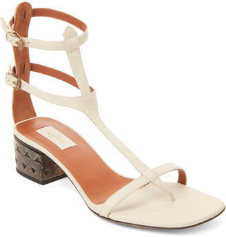 Valentino Dual Ankle Strap Leather Sandals