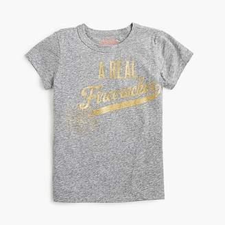 """J.Crew Girls' """"a real firecracker"""" T-shirt"""