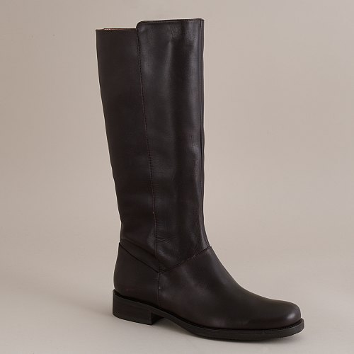 Templeton tall leather flat boots