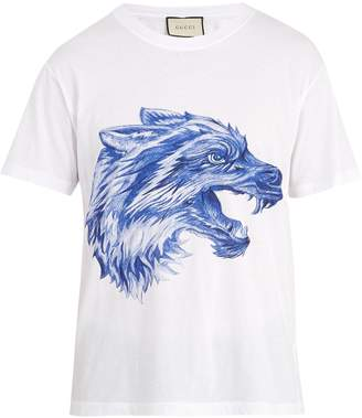 Gucci Wolf print cotton T-shirt