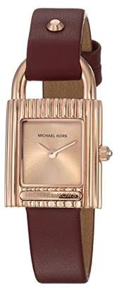 Michael Kors Women's 'Isadore' Quartz Stainless Steel and Leather Casual Watch