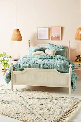 Anthropologie Embroidered Alvie Quilt