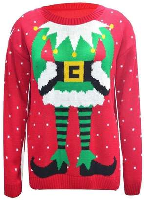 SAM. Rimi Hanger Womens Elf Body TOWIE Christmas Xmas Jumper Sweater