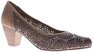 Spring Step Perforated Leather Heels - Abila