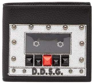 Dolce & Gabbana Tape Recorder Bifold Leather Wallet