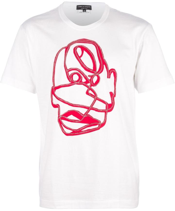 Comme des Garcons stylised print t-shirt