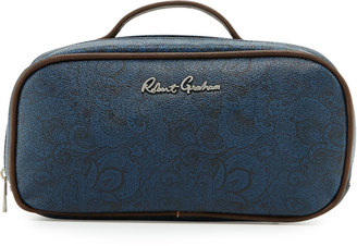 Robert Graham Faux-Leather Toiletry Bag, Blue Paisley $45 thestylecure.com