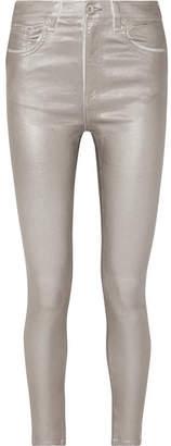 Rag & Bone Metallic Coated High-rise Skinny Jeans