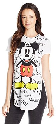 Disney Women's Mickey All Over Print High-Low Tunic T-Shirt $17.50 thestylecure.com