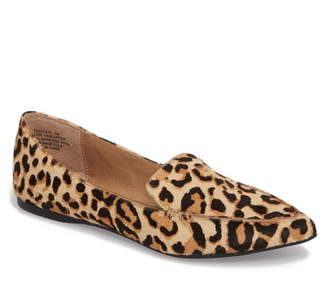 35601537a62 Steve Madden Feather-L Genuine Calf Hair Loafer Flat