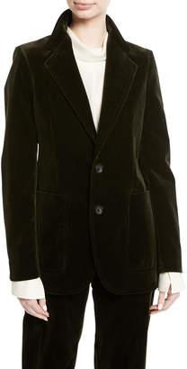 Joseph Albert Stretch Velvet Blazer Jacket