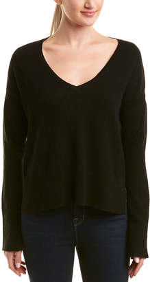 White + Warren Wool & Cashmere-Blend Ribbed Sweater