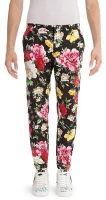Dolce & Gabbana Stretch Cotton Floral Pants