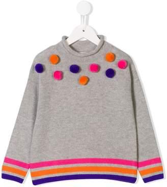 Il Gufo pompom embellished jumper