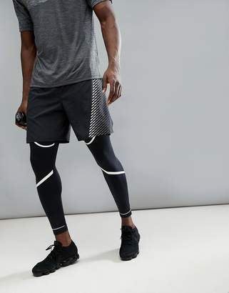 Nike Running Flex Challenger 7 Inch Shorts In Black With Print 943148-010