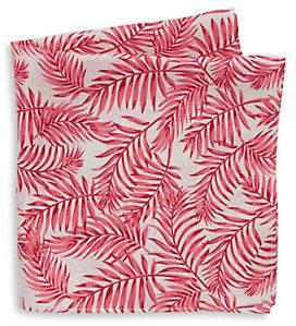 Tommy Hilfiger Palm Leaf Silk Pocket Square