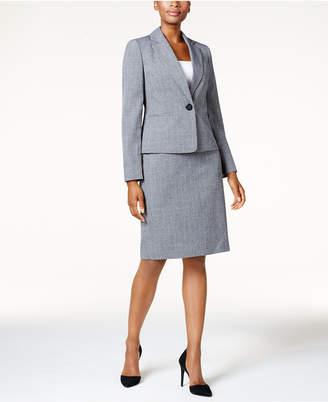 Le Suit Single-Button Glen Plaid Skirt Suit $200 thestylecure.com