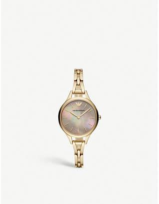 Emporio Armani AR11140 Aurora gold-plated stainless steel watch