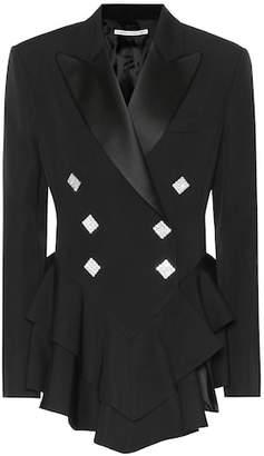 Alessandra Rich Embellished wool tuxedo jacket