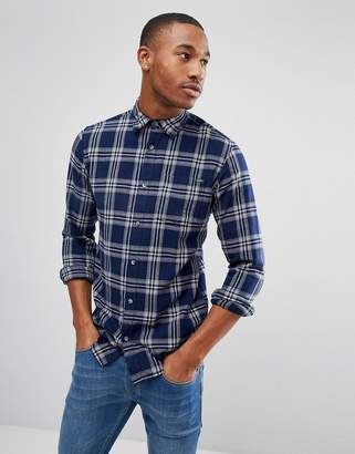 Jack and Jones Shirt in Slim Fit Check Cotton