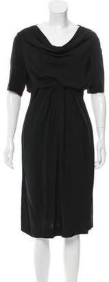 Valentino Cowl Neck Short Sleeve Dress w/ Tags