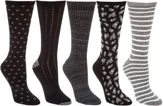 Cuddl Duds Plushfill Mid-Weight Boot Socks Set of 5