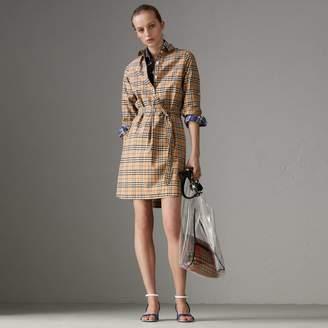 Burberry Check Cotton Tunic Dress