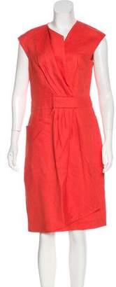 Lela Rose Linen Midi Dress