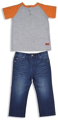 7 For All Mankind Boys' Color-Block Henley Tee & Jeans Set - Sizes 2T-4T $59 thestylecure.com