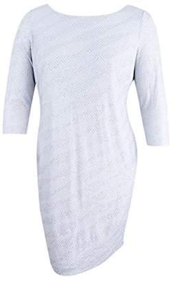 Calvin Klein Women's 3/4 Sleeve Round Neck Shimmery Jersey Shift Dress