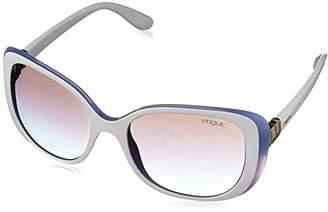 Vogue Women's Injected Woman Non-Polarized Iridium Rectangular Sunglasses