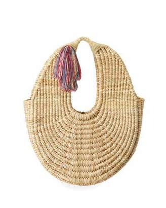 Nannacay - Cotio Betina Straw Hobo Bag with Tassel
