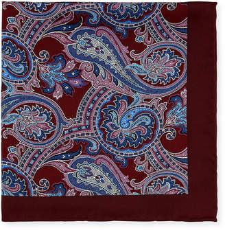 Neiman Marcus Men's Paisley-Print Silk Pocket Square