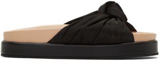 Helmut Lang Black Knotted Platform Sandals $450 thestylecure.com