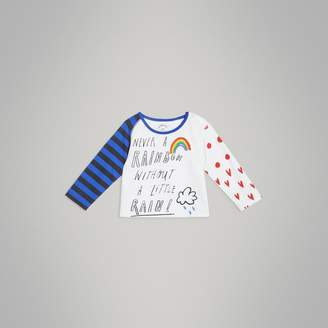 Burberry Childrens Long-sleeve Rainbow Graphic Cotton Top