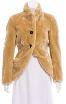 Hache Faux Fur Button-Up Jacket