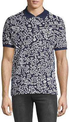 Lacoste x Keith Haring Printed Cotton Polo