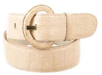 Nancy Gonzalez Crocodile Buckle Belt