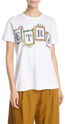 Etro Short-Sleeve Logo-Block Graphic Tee