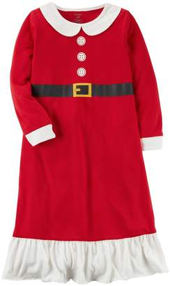 Carter's Girls 4-14 Santa Fleece Nightgown