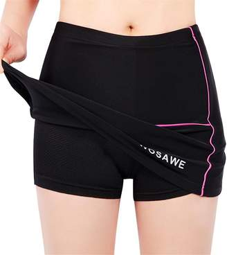 Dovewill Woen's Cycling Bicycle Shorts Pant-Skirt Shockproof Tea Sports Safety Sportswear Running Skort