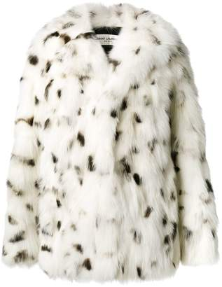 Saint Laurent Oversized Fox Fur Coat