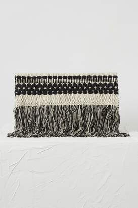 French Connection Kala Woven Fringed Clutch