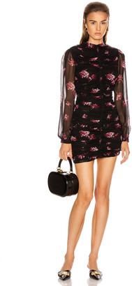 Nicholas Gathered Mini Dress in Mulberry Multi | FWRD