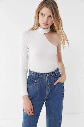 Urban Outfitters Mia One-Shoulder Mock-Neck Top