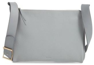 Skagen Slim Anesa Leather Crossbody Bag - Grey $175 thestylecure.com
