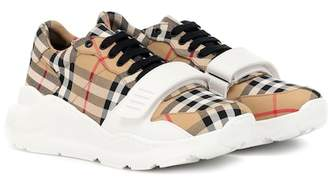 Burberry Checked cotton sneakers