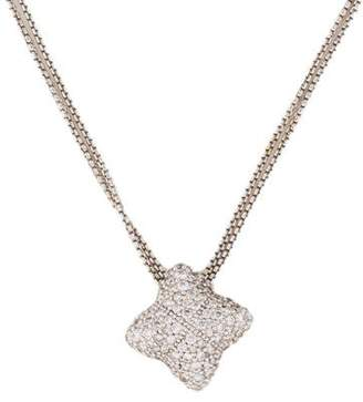 David Yurman Diamond Quatrefoil Pendant Necklace