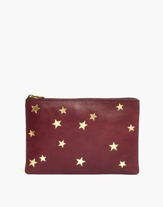 Madewell The Leather Pouch Clutch: Star Embossed Edition
