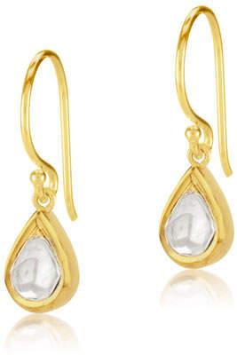 Amrapali Legend Kundan Diamond Teardrop Earrings